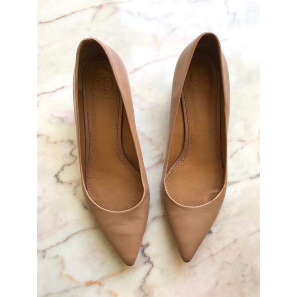 eabe776ef Tory Burch Elizabeth tan kitten heel pumps sz 7.5.  M 5ae8c4d7f9e501811c356077